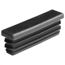 Заглушка для трубы 15х60 плоская черная