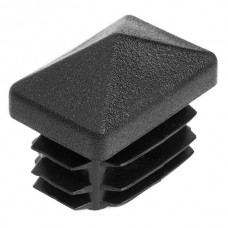 Заглушка для трубы 20*30 с пирамидальной шляпкой черная