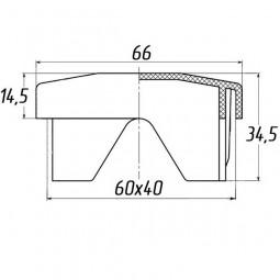 Заглушка для заборов универсальная 40x60