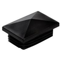 Заглушка для трубы 20x30 пирамида черная